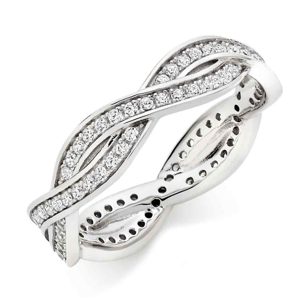 Silver Cubic Zirconia Eternity Ring