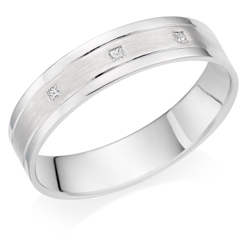 Platinum Diamond 5mm Men's Wedding Ring