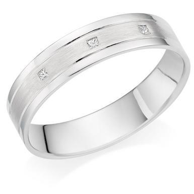 Platinum Diamond 5mm Men's Wedding Ring