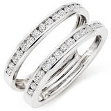 Platinum Diamond Silhouette Ring