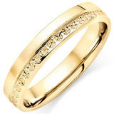 18ct Gold Sparkle Cut Ladies Ring