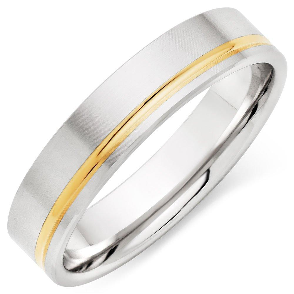 9ct Gold and White Gold Men's Ring