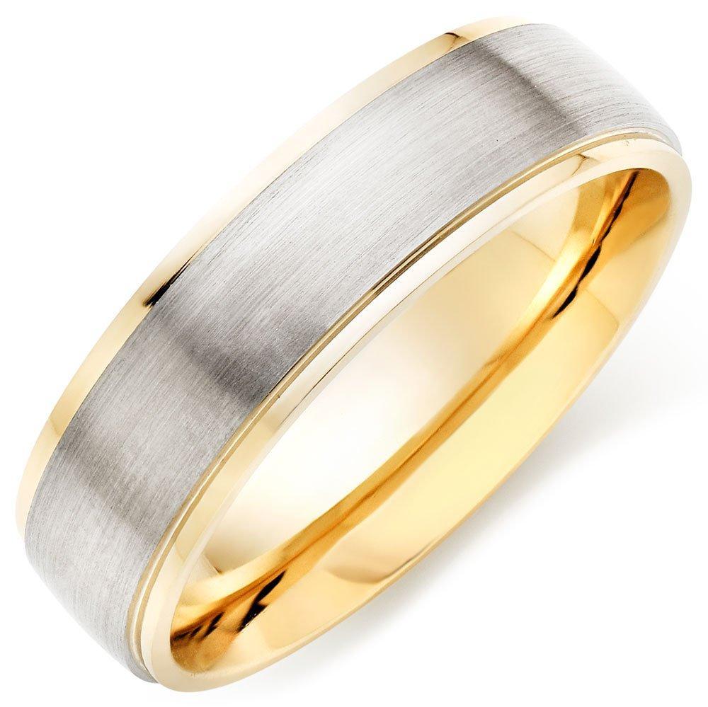 Palladium and 9ct Gold Men's Ring