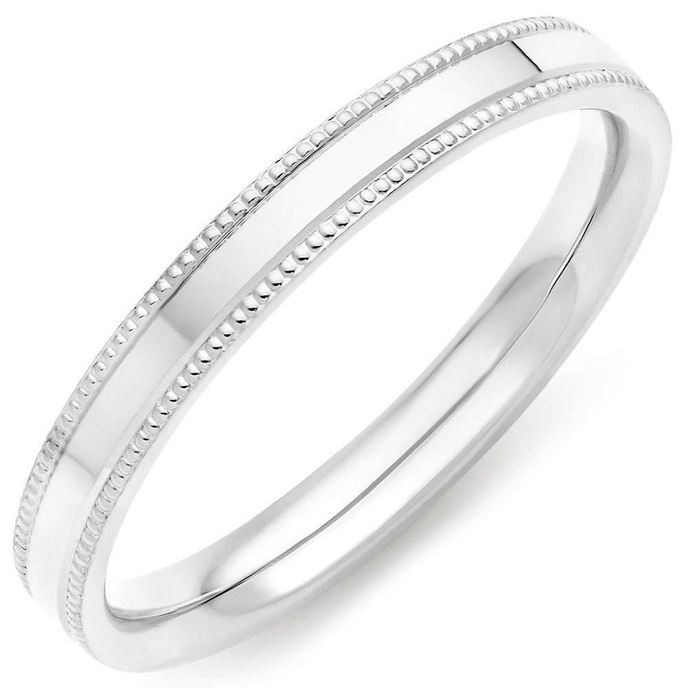 9ct White Gold Vintage Ladies Wedding Ring