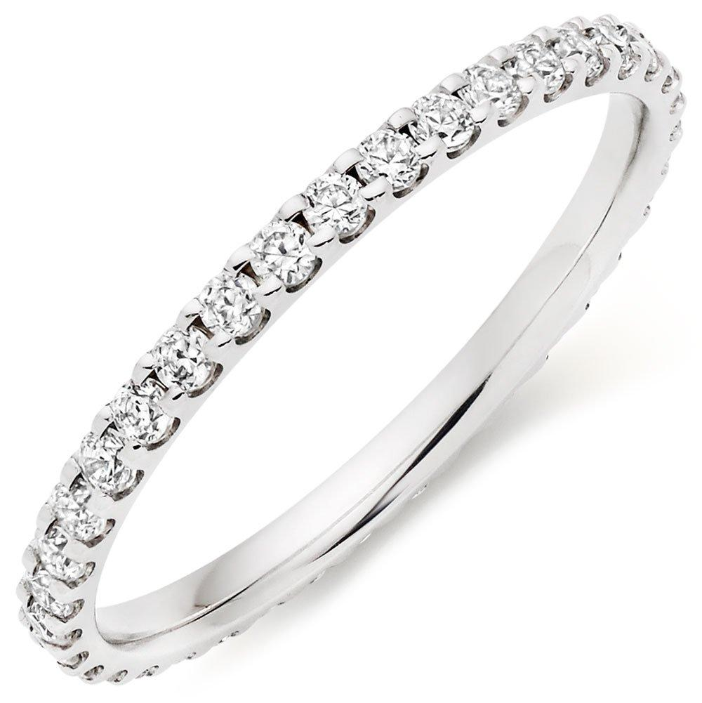 Platinum Diamond Full Eternity Ladies Ring