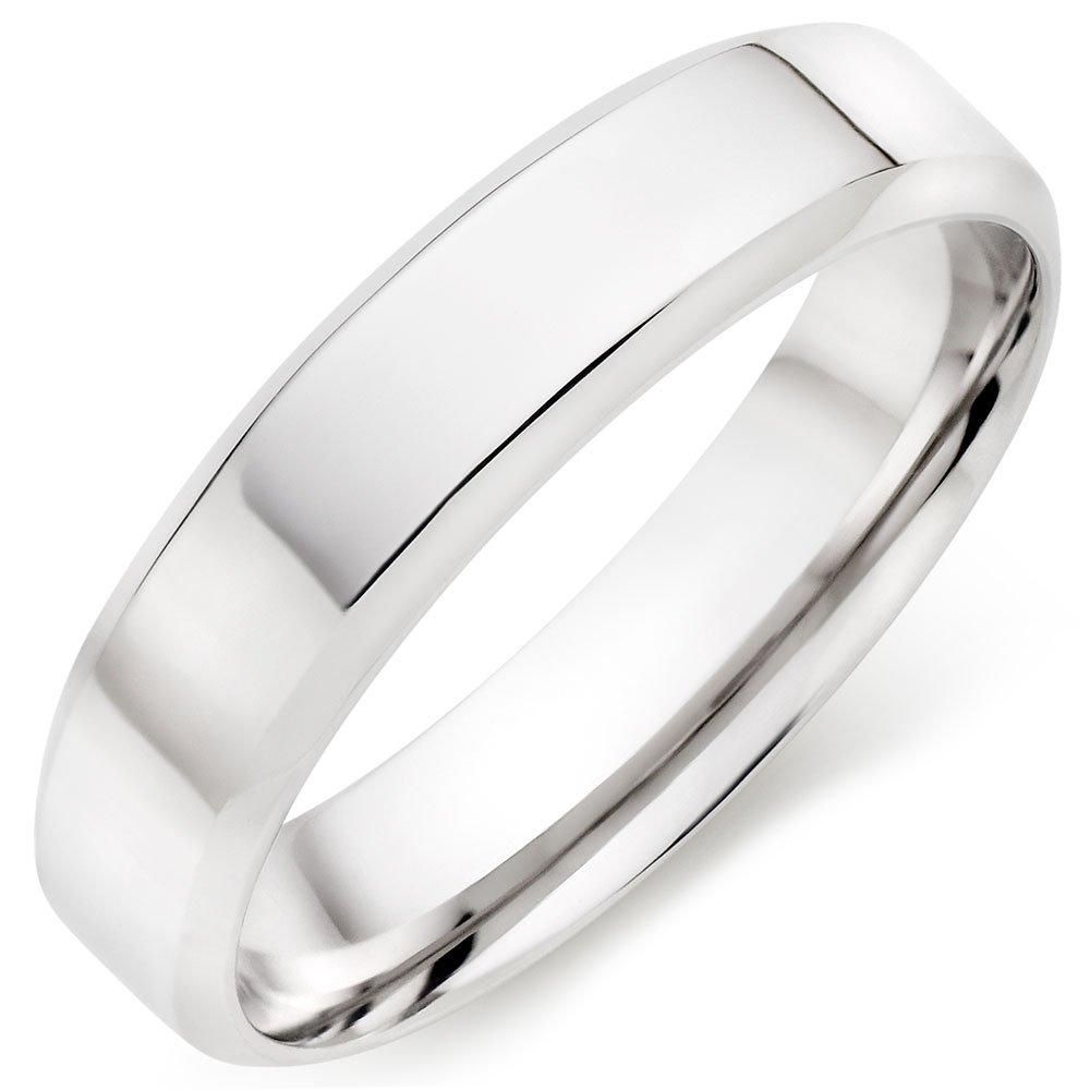 9ct White Gold Men's Wedding Ring