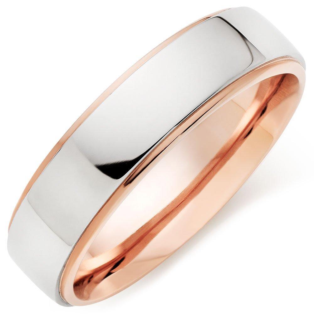 Palladium and 9ct Rose Gold Men's Ring