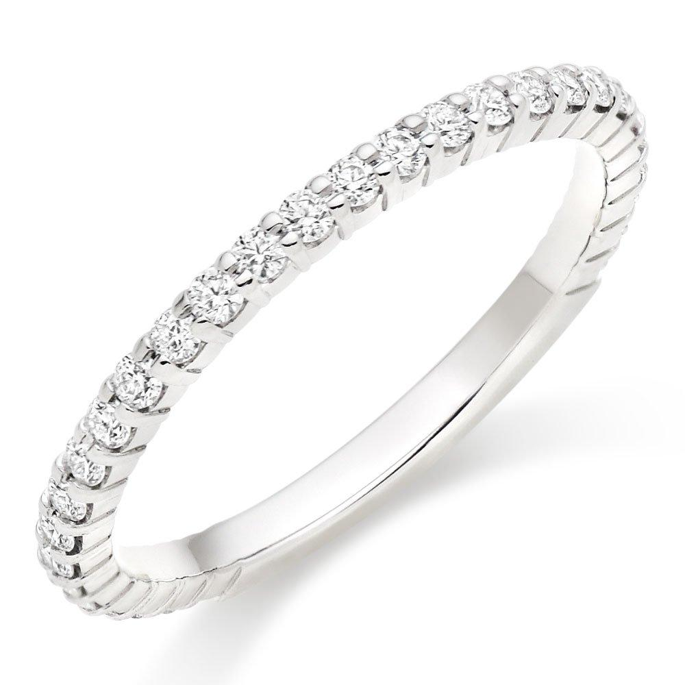 Hearts On Fire Simply Bridal Platinum Diamond Wedding Ring