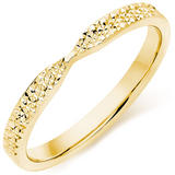 9ct Gold Sparkle Cut Ladies Wedding Ring