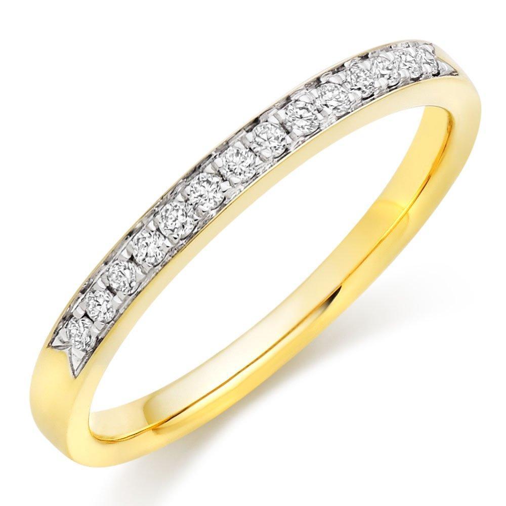 18ct Gold Diamond Half Eternity Wedding Ring