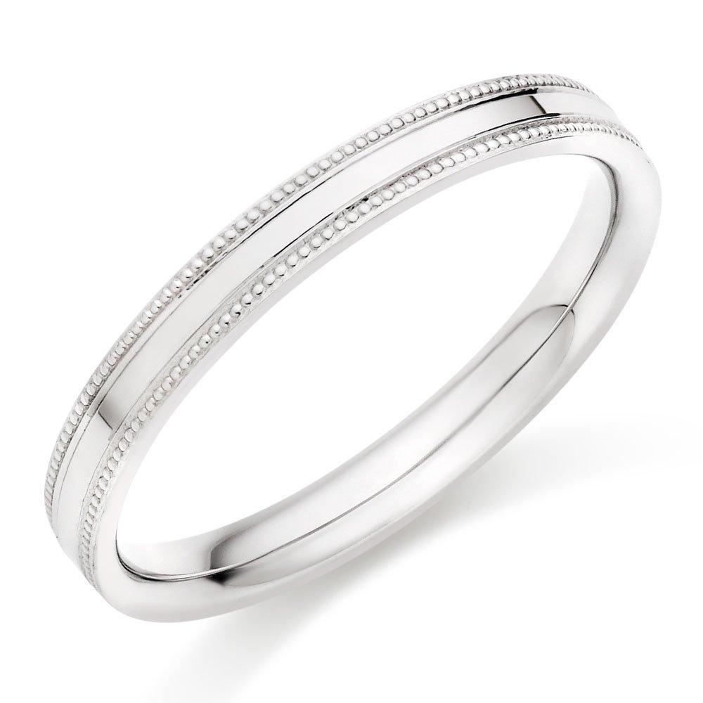 18ct White Gold Vintage Wedding Ring