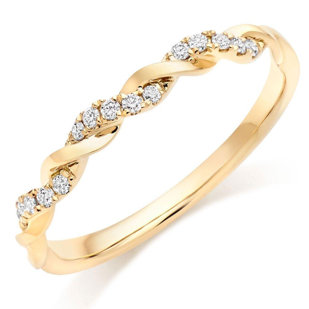 Entwine 18ct Gold Diamond Twist Wedding Ring