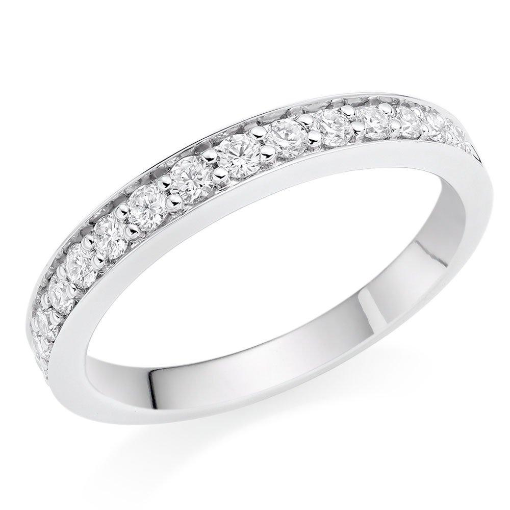Platinum Diamond Half Eternity Wedding Ring