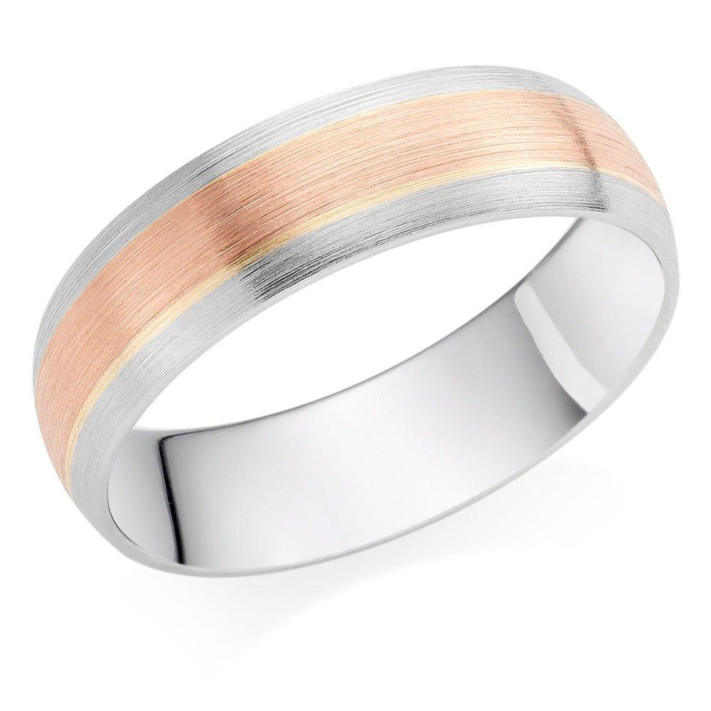 9ct White Gold and Rose Gold Men's Wedding Ring