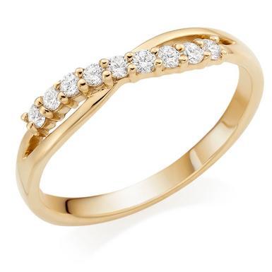 18ct Gold Diamond Wedding Ring