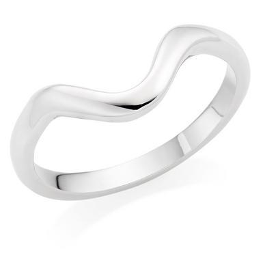 18ct White Gold Shaped Wedding Ring