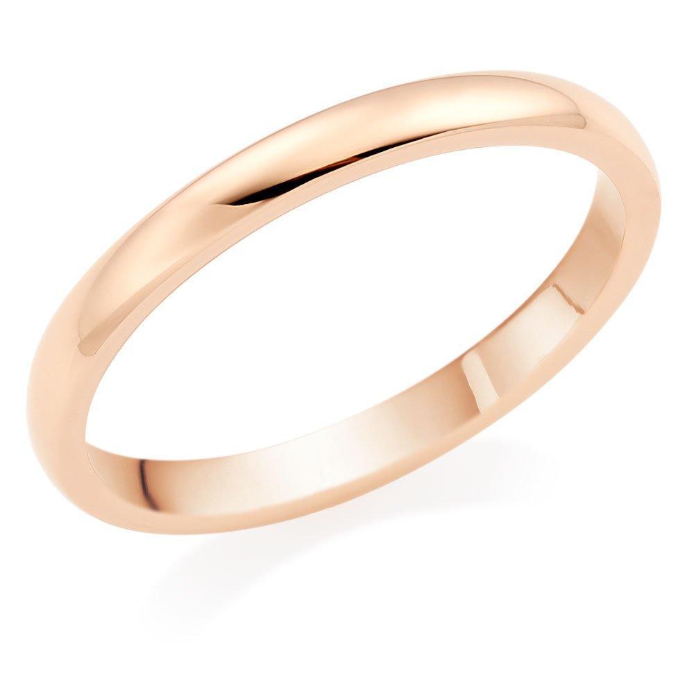 18ct Rose Gold 2mm Court Wedding Ring