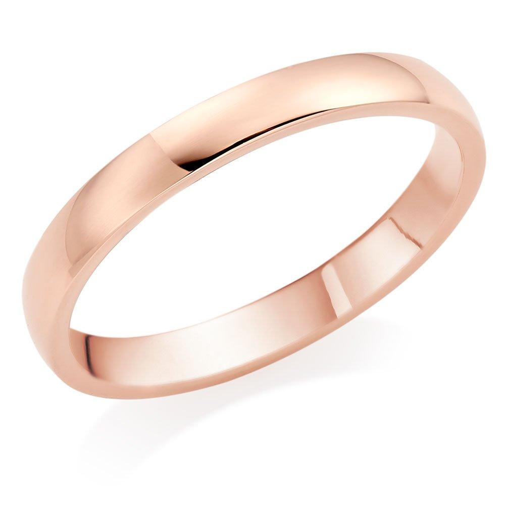 9ct Rose Gold 2.5mm Court Wedding Ring