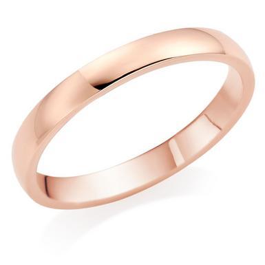 9ct Rose Gold 2.5mm Court Wedding Ring