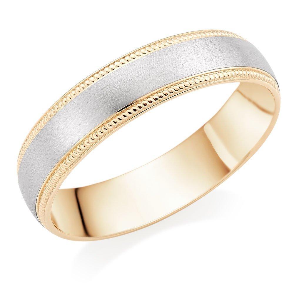 9ct Gold and Palladium Men's Wedding Ring