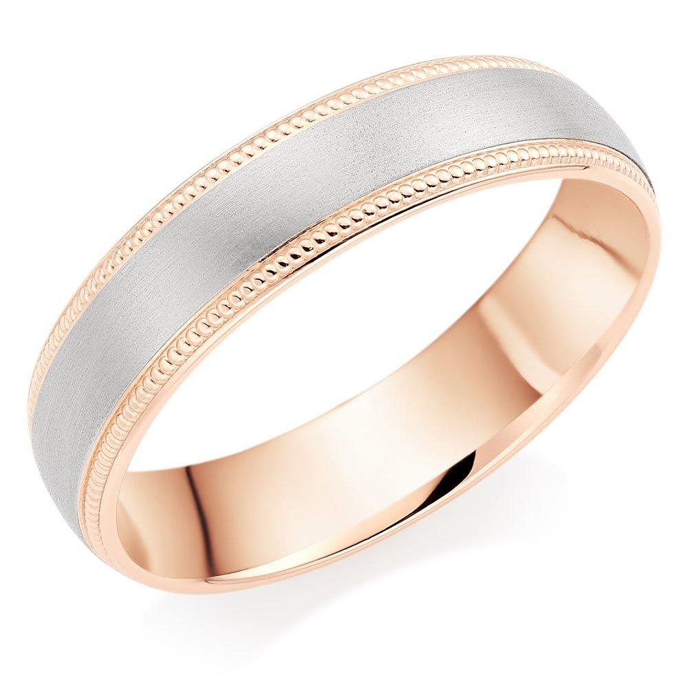 9ct Rose Gold and Palladium Wedding Ring