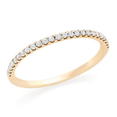 9ct Gold Diamond Half Eternity Wedding Ring