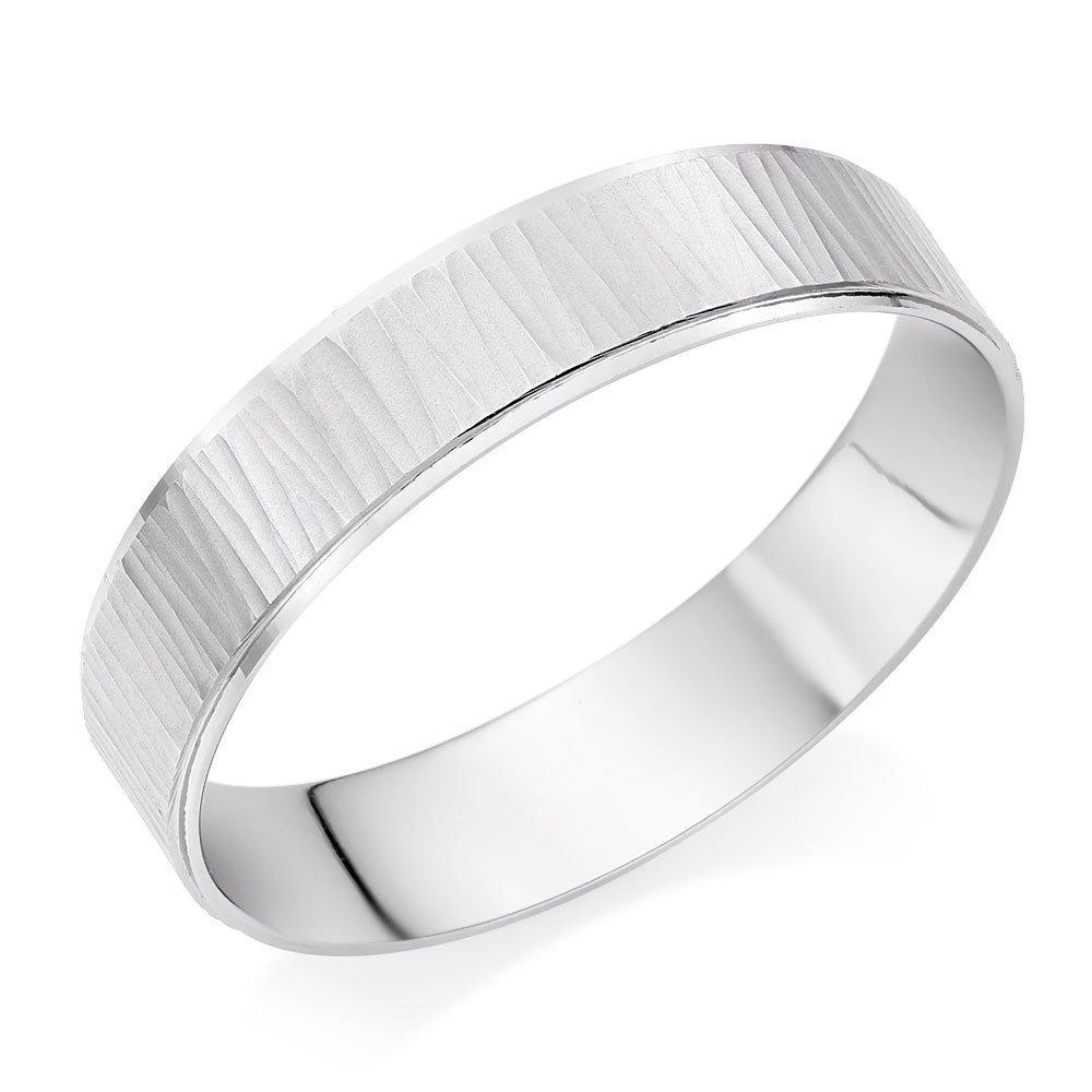 Platinum Textured Men's Wedding Ring