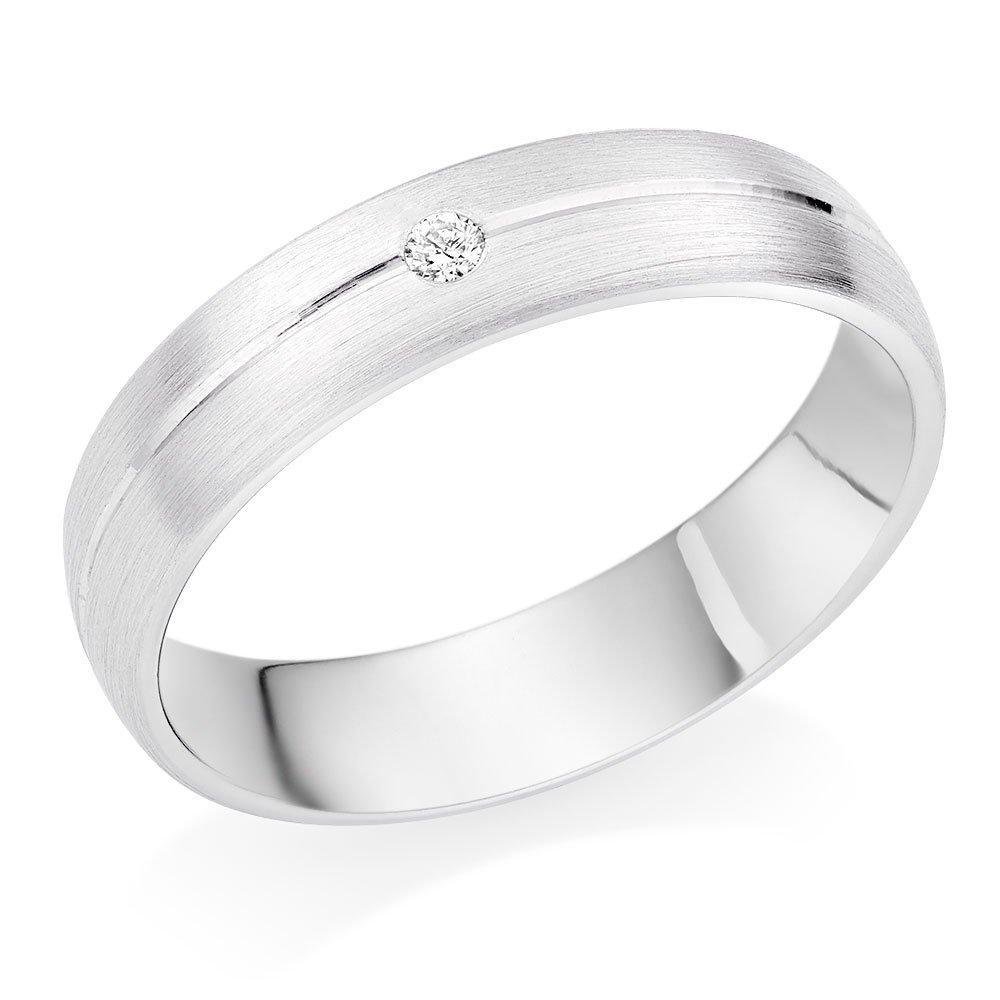 Platinum Diamond Men's Wedding Ring