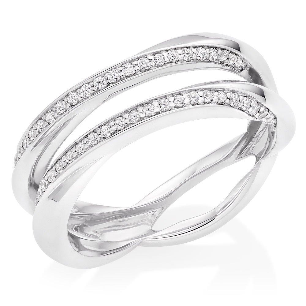 Platinum Diamond Silhouette Wedding Ring