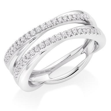 Platinum Diamond Silhouette Wedding Ring