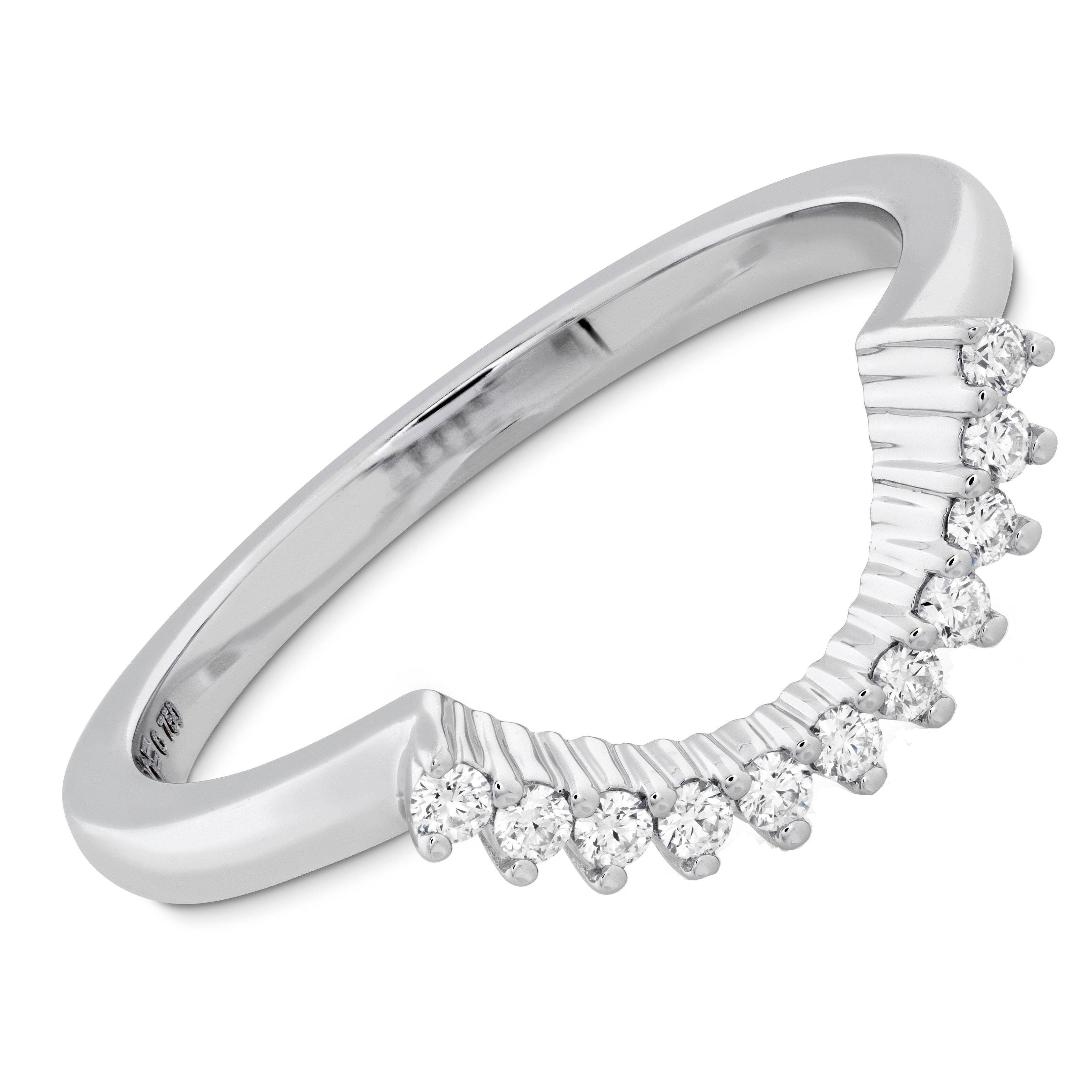 Hearts On Fire Delight Platinum Diamond Shaped Wedding Ring