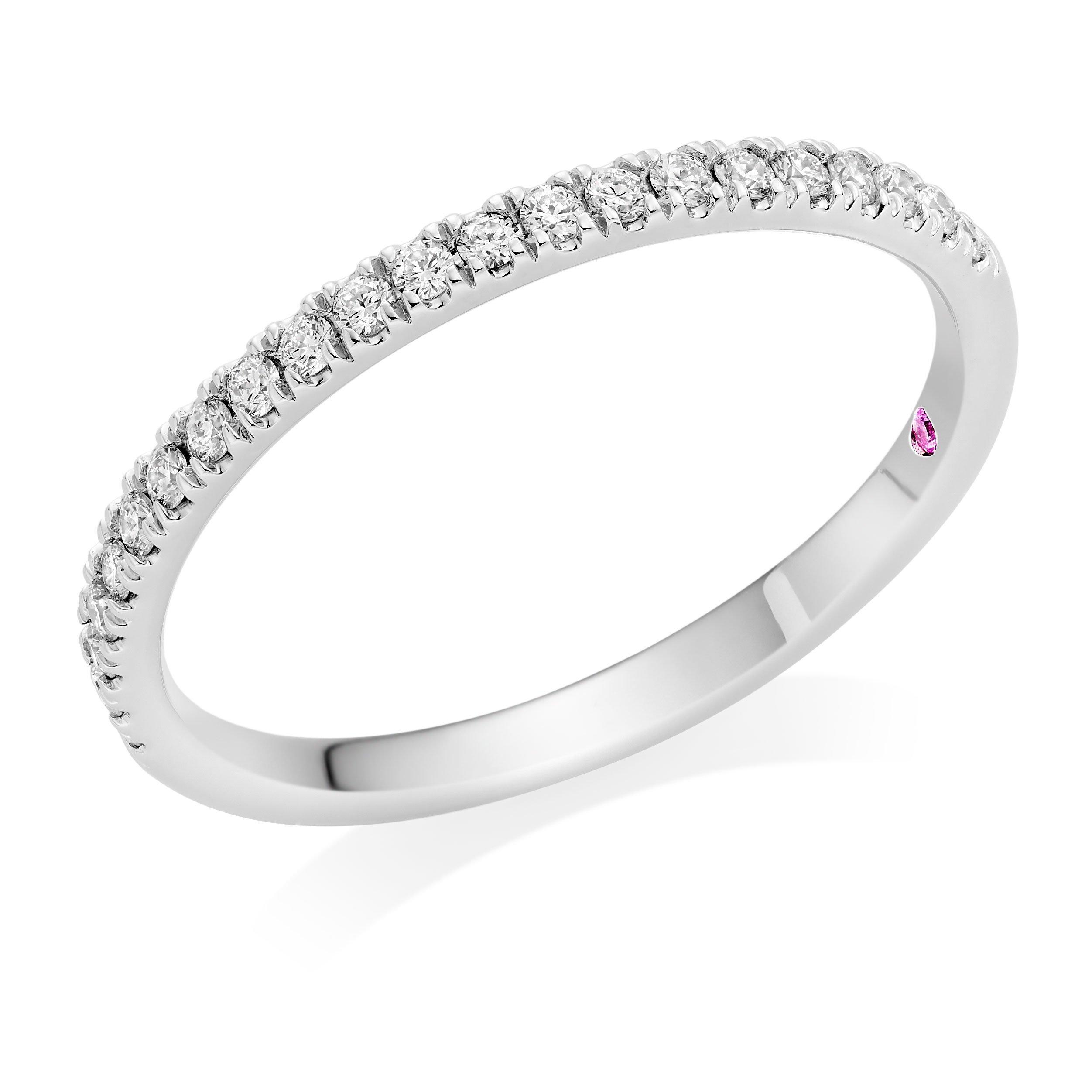 Hearts On Fire Hayley Paige Sloane Platinum Diamond Wedding Ring