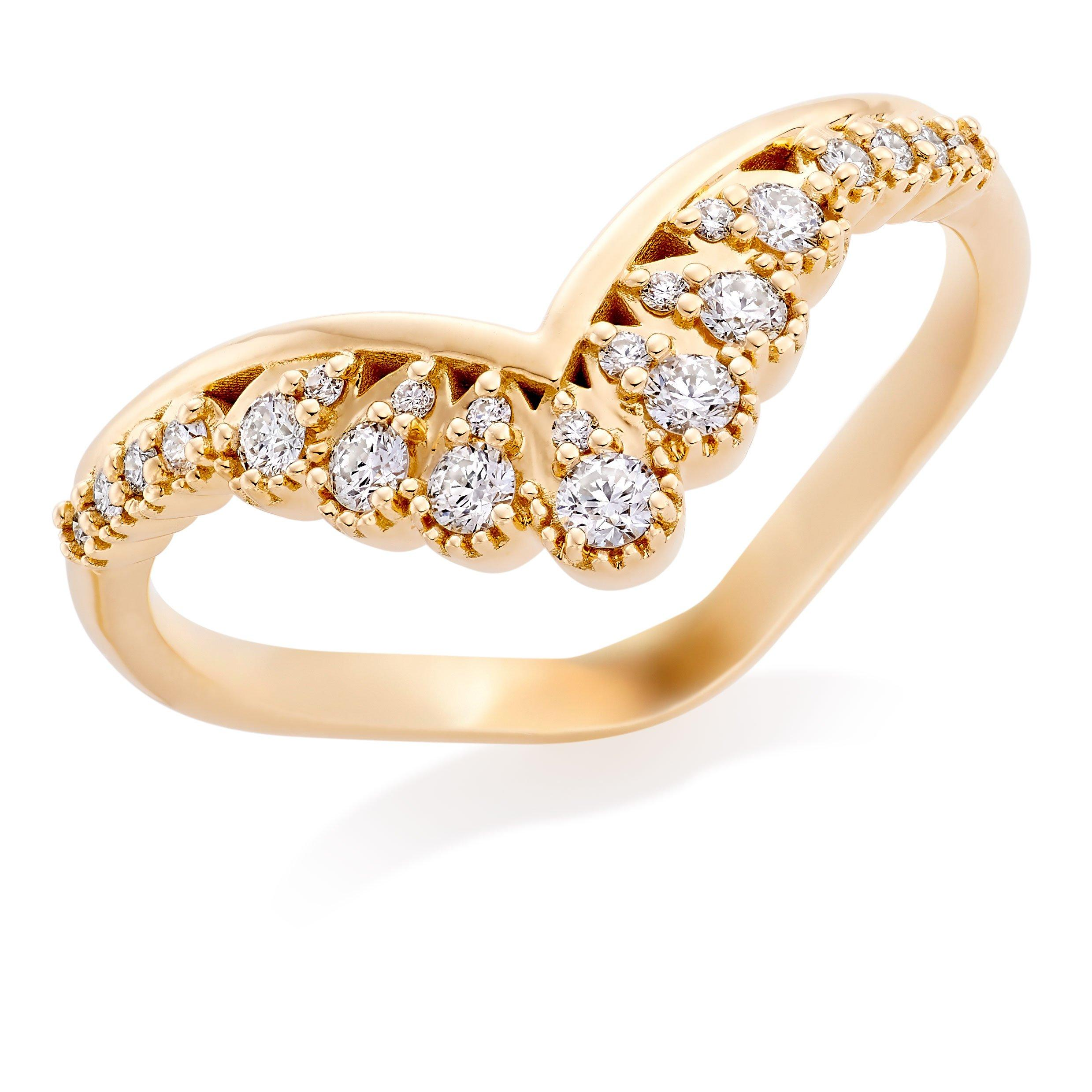 Hearts On Fire Hayley Paige Behati 18ct Gold Diamond Shaped Wedding Ring
