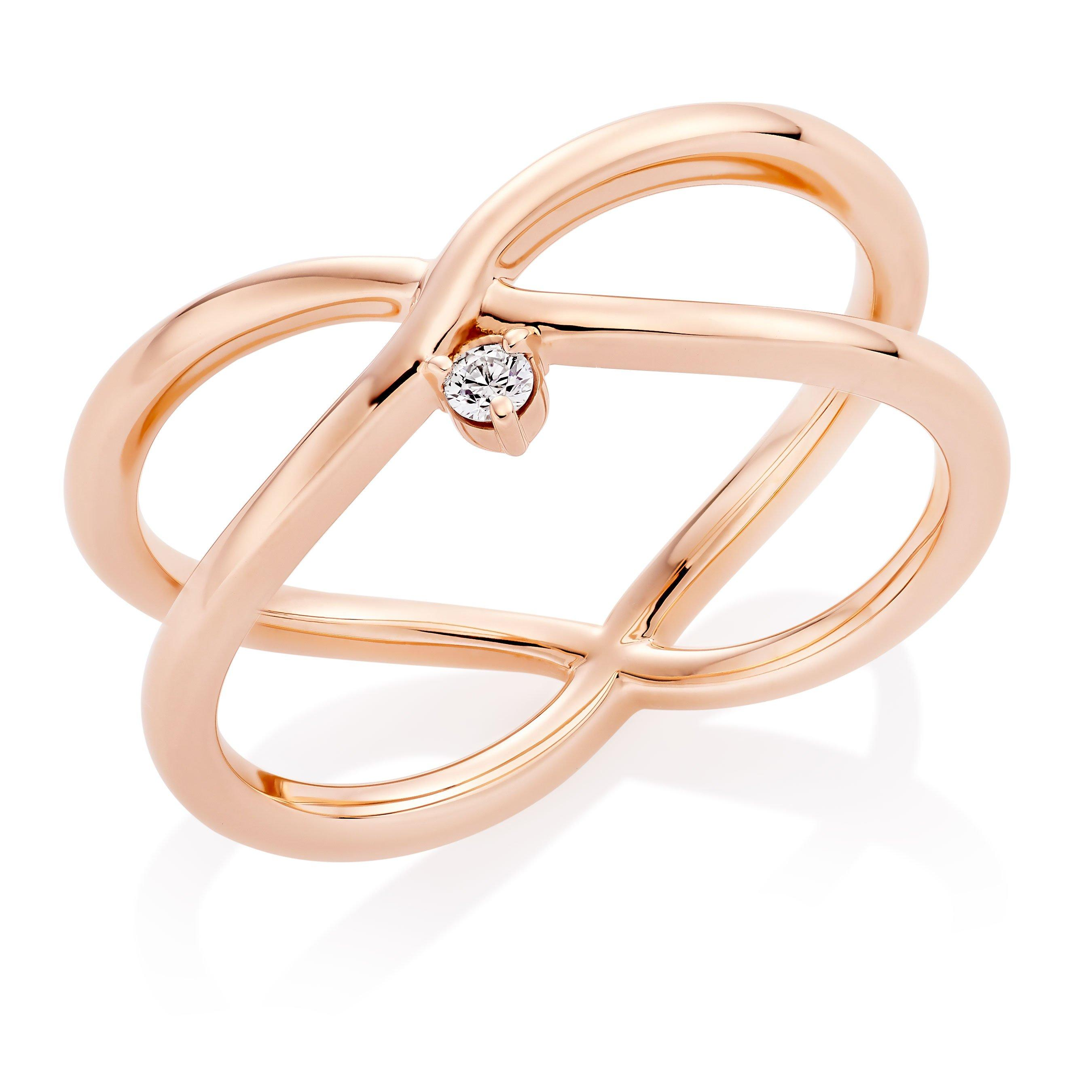 Hearts On Fire Hayley Paige Love Code 18ct Rose Gold Diamond Ring
