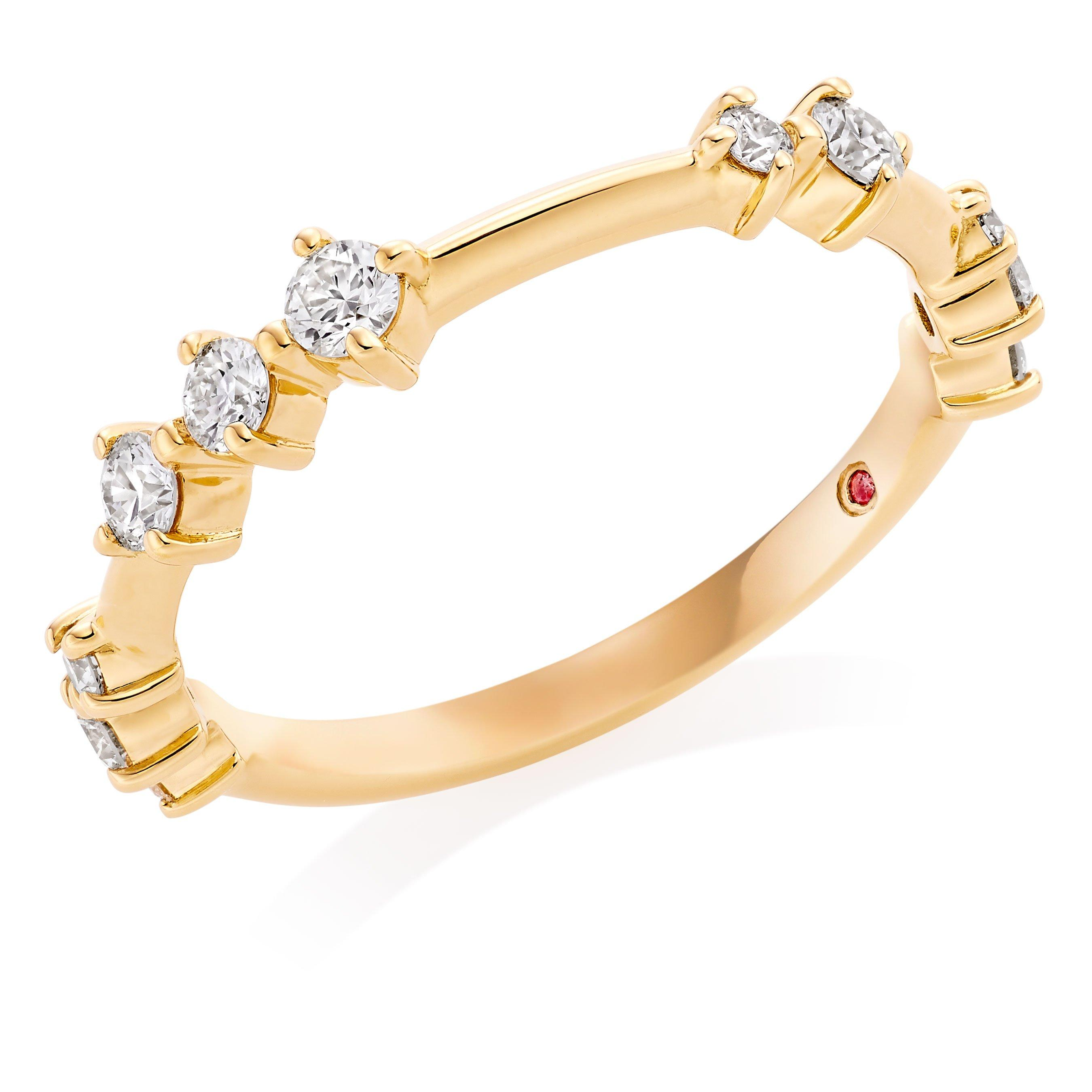 Hearts On Fire Hayley Paige Love Code 18ct Gold Diamond Ring