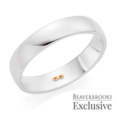 Beyond Brilliance 18ct White Gold and Rose Gold Infinity Men's Wedding Ring