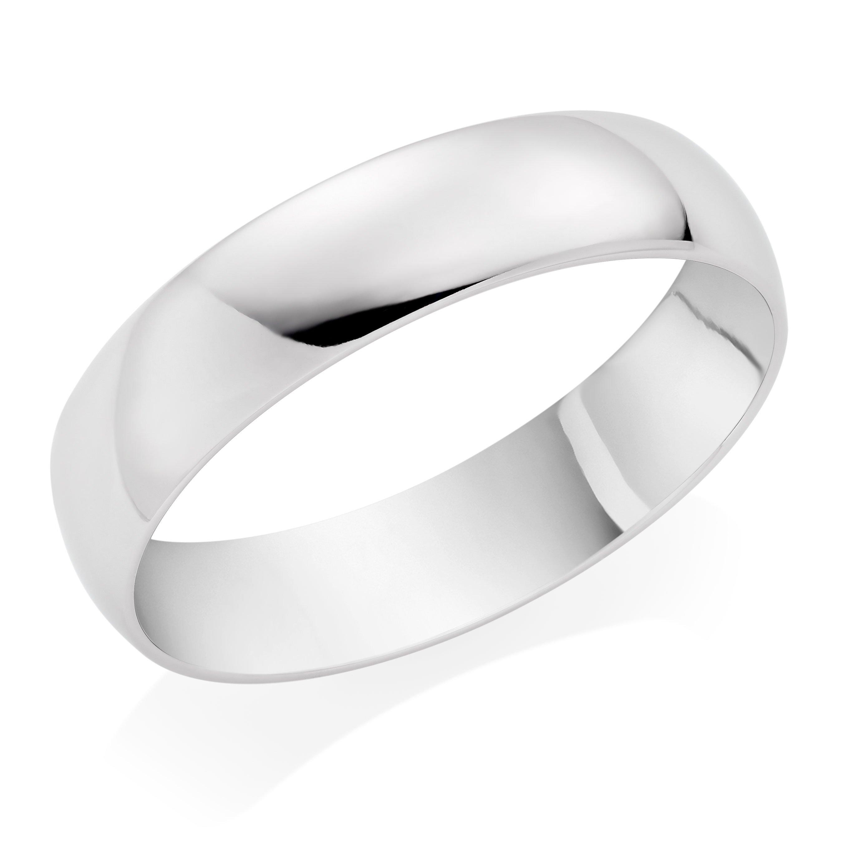 Platinum Court Wedding Band