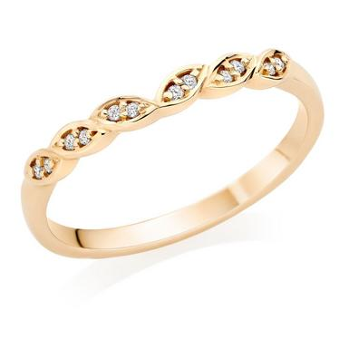 18ct Gold Diamond Vintage Wedding Ring