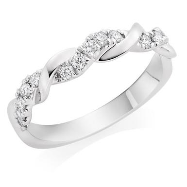 Entwine Platinum Diamond Wedding Ring
