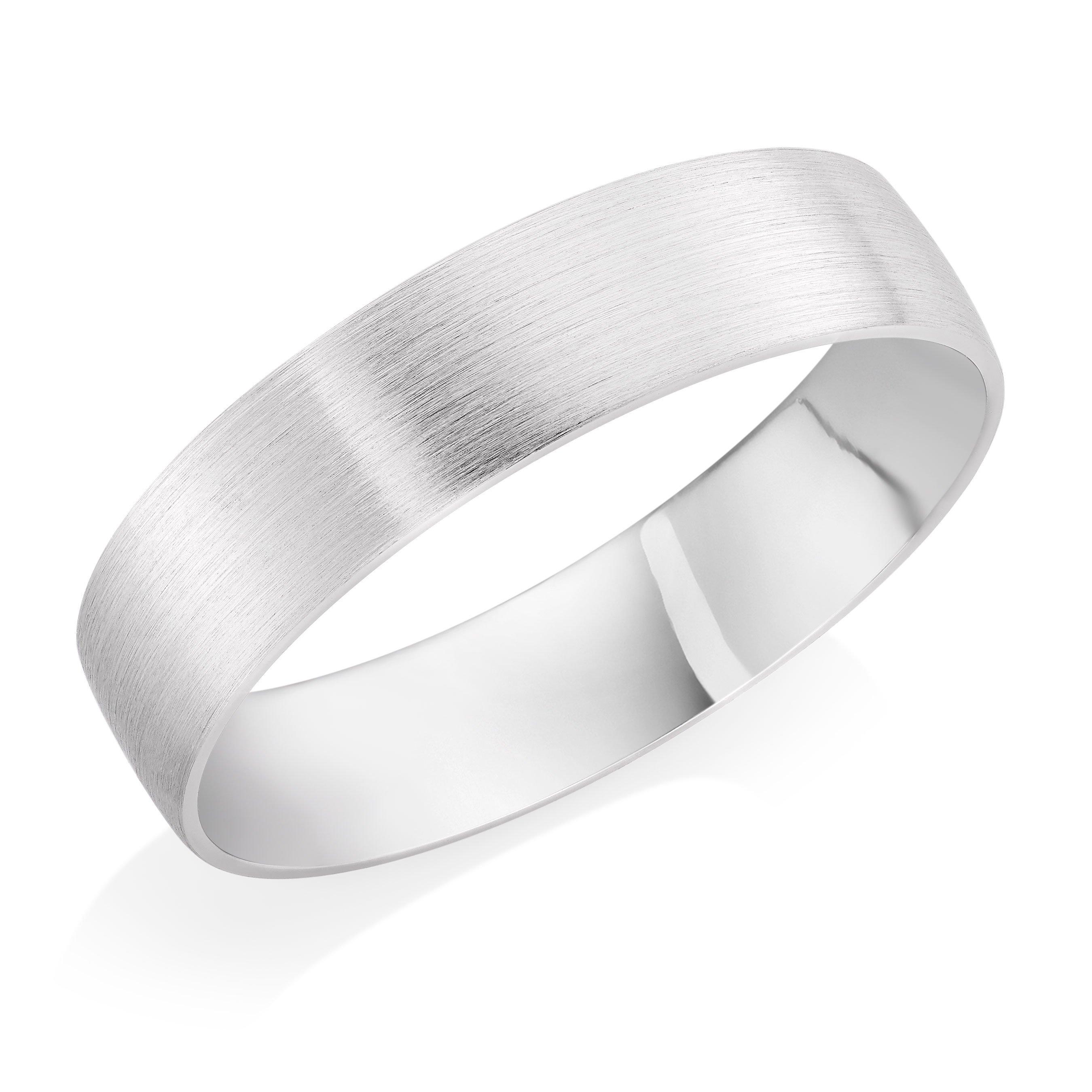 Platinum Brushed Court Ring