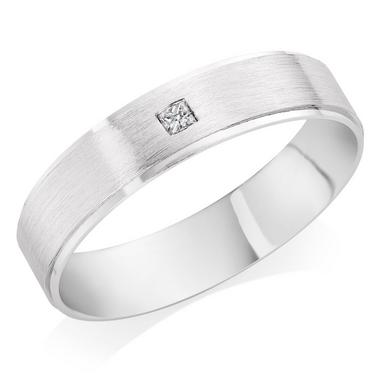 Platinum Diamond Court Wedding Ring