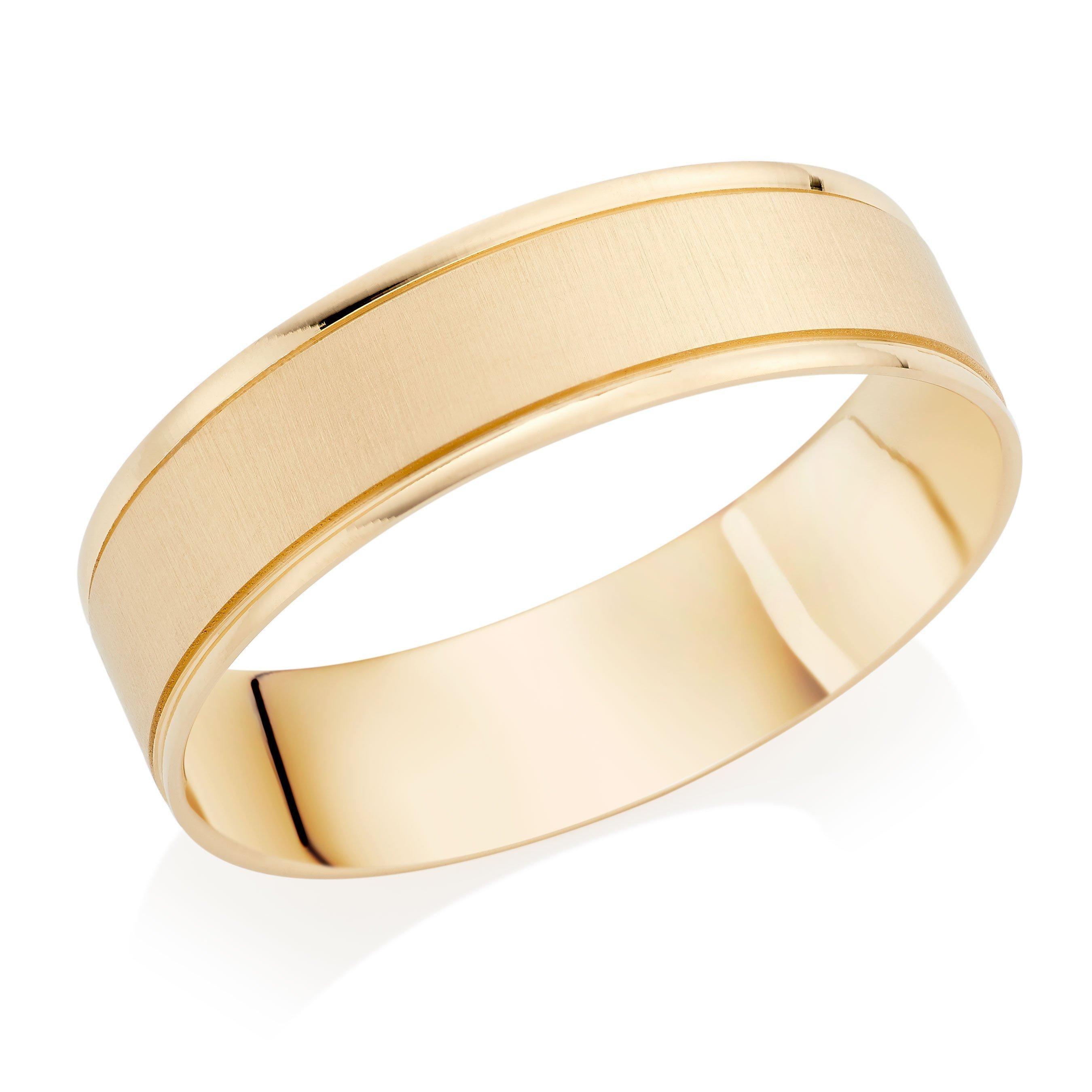 18ct Gold Satin Men's Wedding Ring