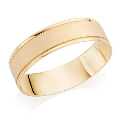18ct Gold Satin Wedding Ring