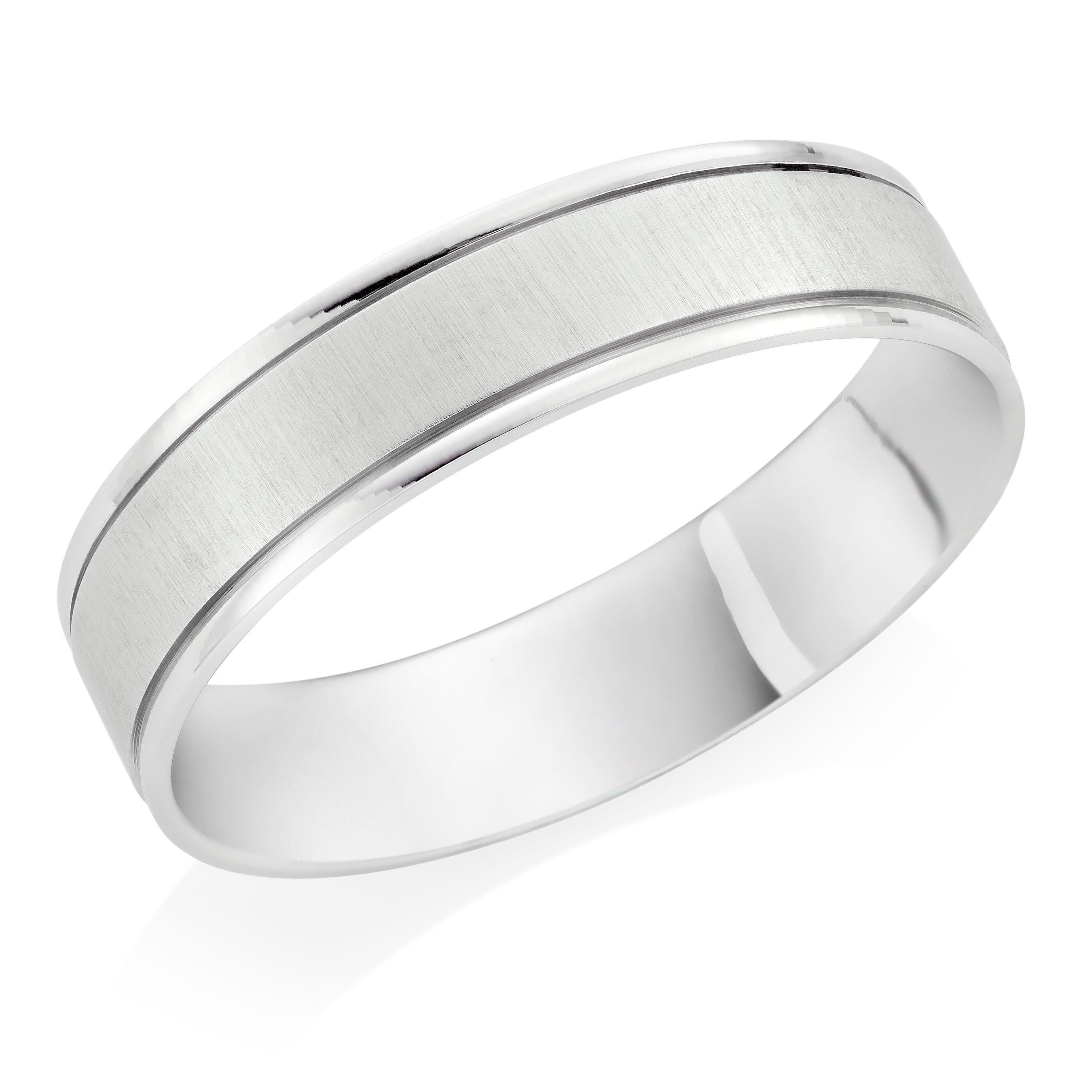 Platinum Satin Wedding Ring