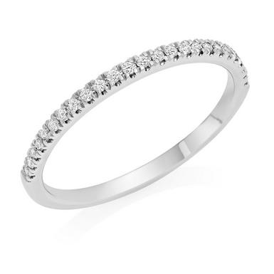 Royal Asscher Platinum Diamond Half Eternity Wedding Ring