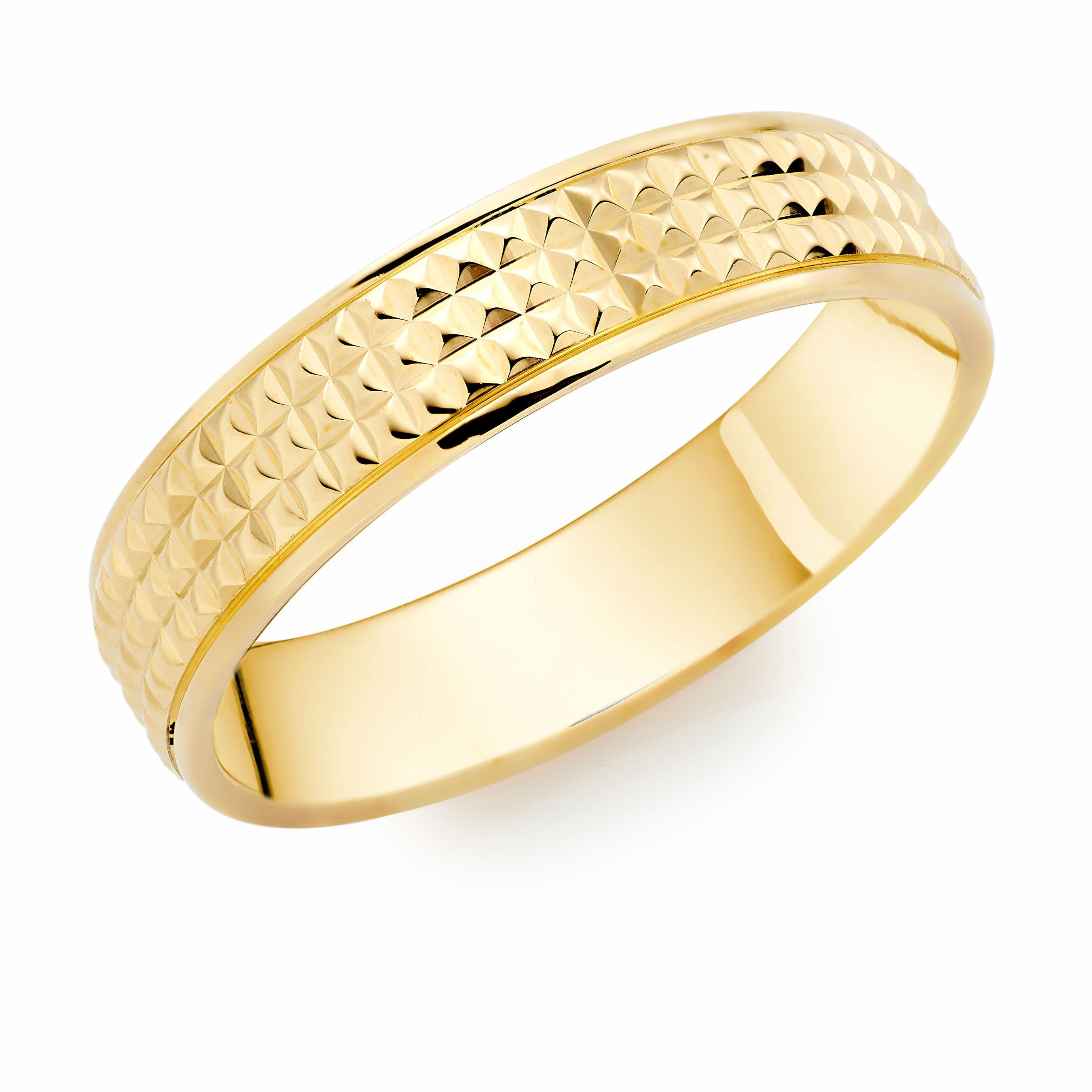 9ct Gold Fancy Men's Wedding Ring