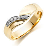 9ct Gold Diamond Wedding Ring