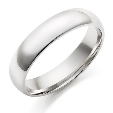 Men's 9ct White Gold Wedding Ring
