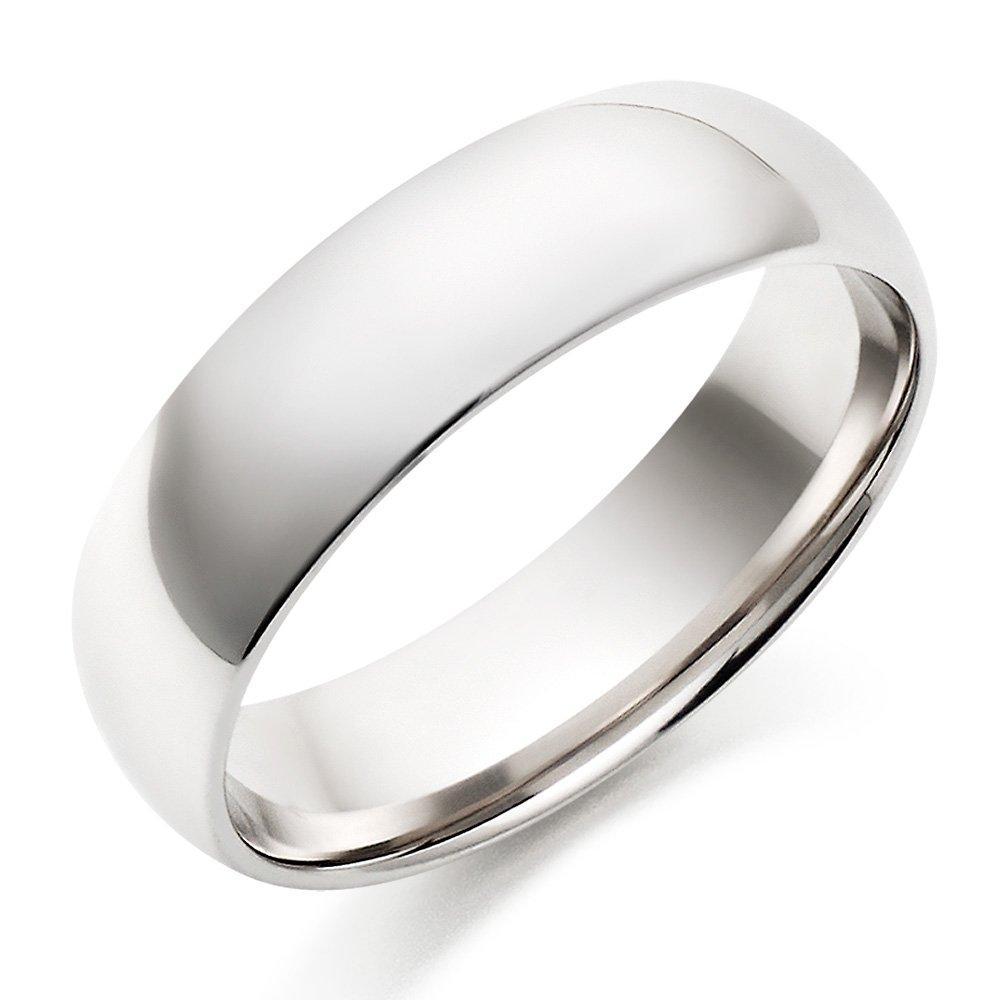 9ct White Gold Men's Wedding Ring