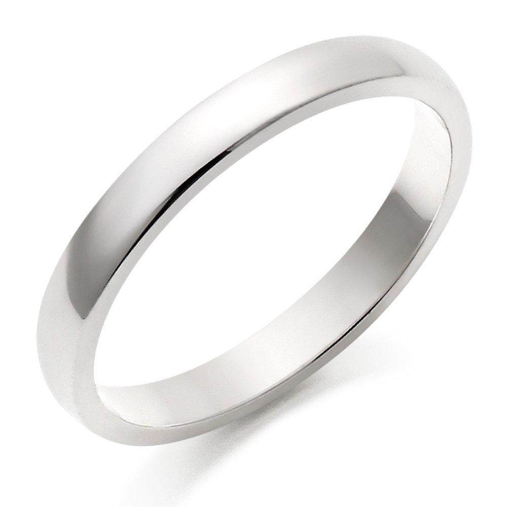 9ct White Gold Court Wedding Ring